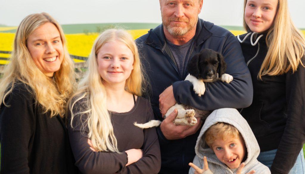 Lars & Anna med familj och C S Magnificent